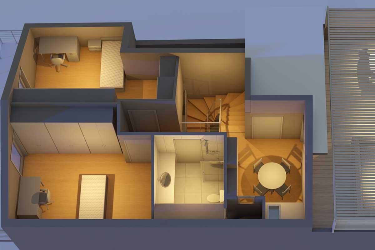 Floor addition in apartment building