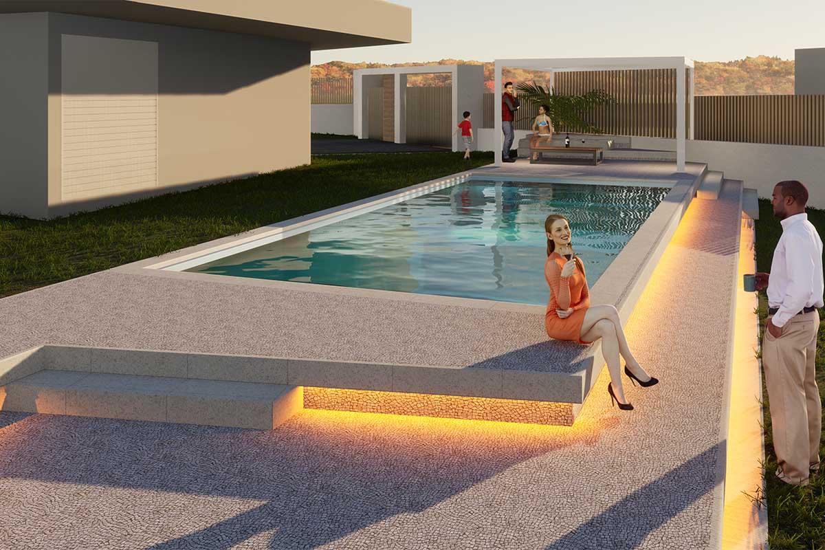 Swimming pool in Drosia, Evia | Κατασκευή πισίνας