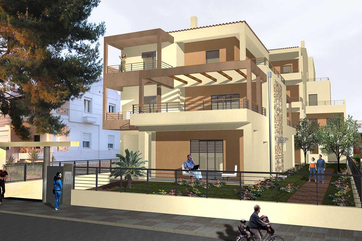 residential building complex in Antheon street, Chalkida
