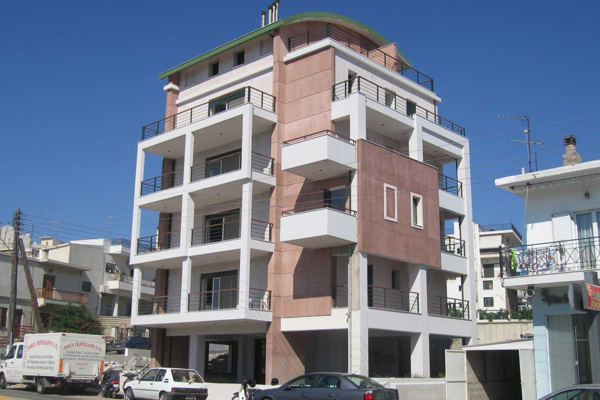 Avlidos apartment building in Chalkida