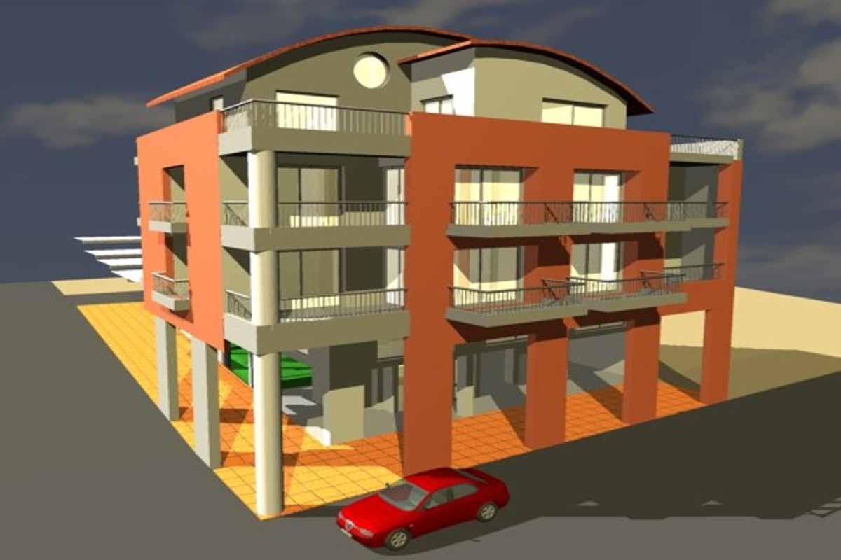 Four-storey apartment building in Rodies, Chalkida