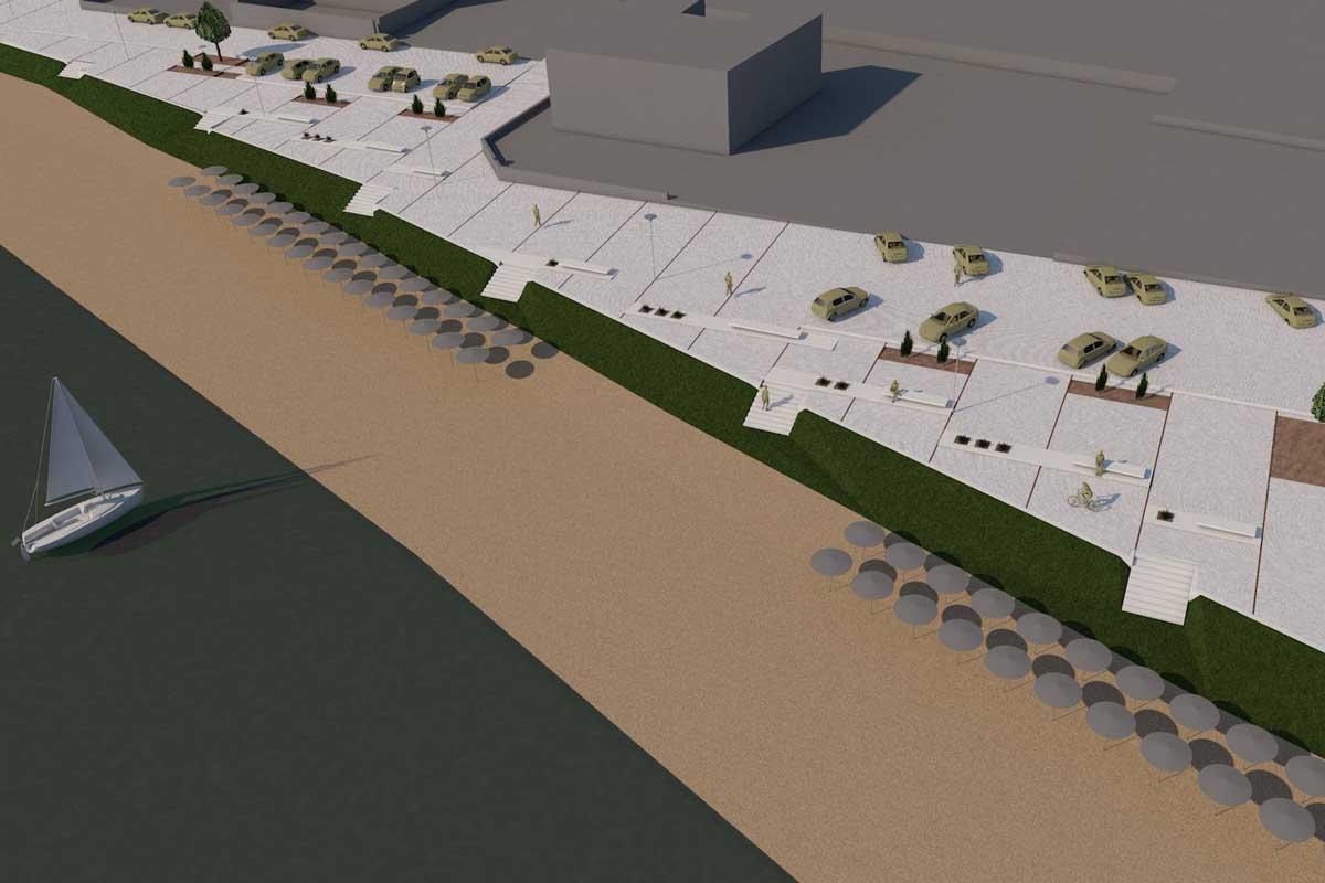 Configuration of Nea Kizikos coastal front