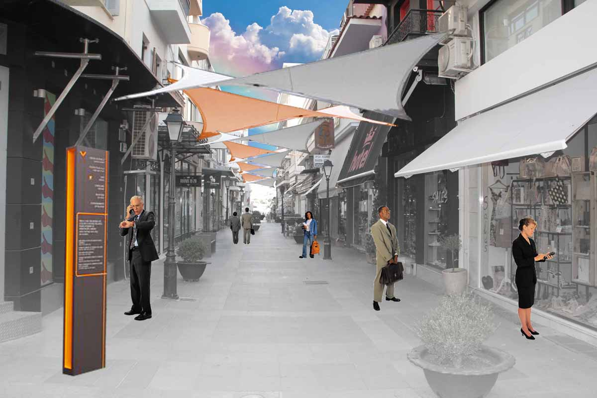 Urban development of Chalkida Open Trade Center