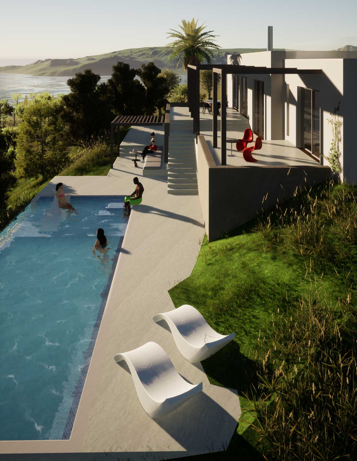 Two residences with swimming pool in Galatas, Poros island