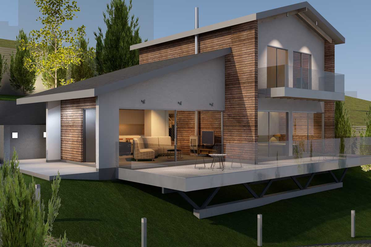 Ecological and bioclimatic house in Theologos, Central Greece